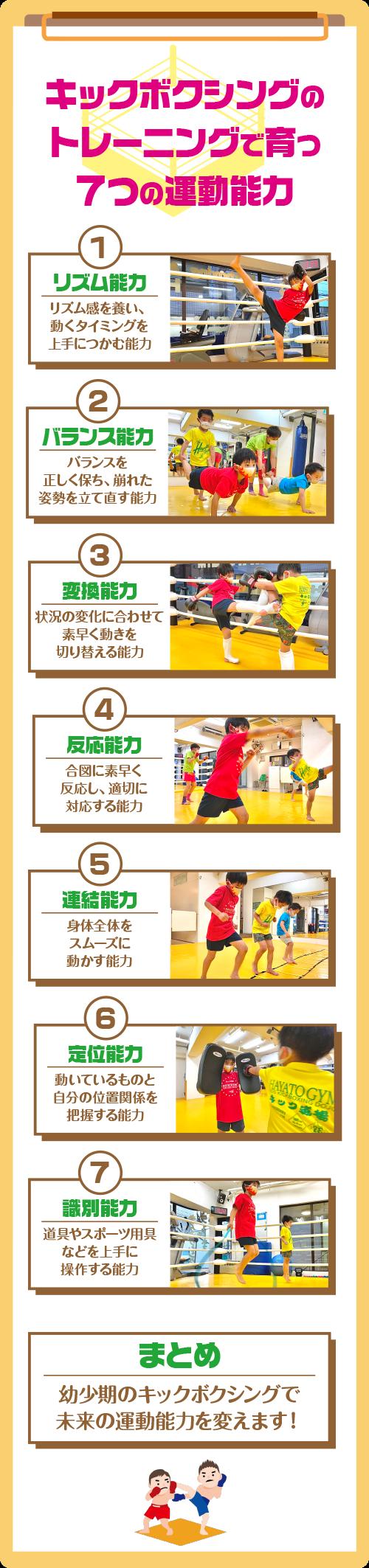 キックボクシングのトレーニングで育つ7つの運動能力